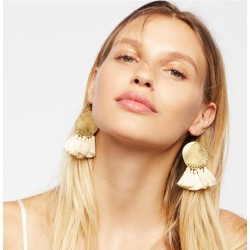 E-4404 New Fashion 5 Colors Gold Plated Alloy Thread Tassel Shourouk Earrings