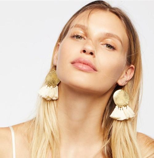 E-4404 New Fashion 5 Colors Gold Plated Alloy Thread Tassel Shourouk Earrings