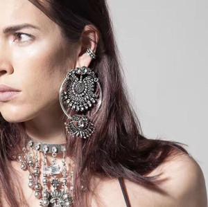 E-4134 New Arrived Fashion Shiny Diamante Crystal Pendant Dangle  Earring For  Women Jewelry