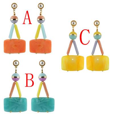 E-4607 Trendy Bohemian Style Resin Drop  Earrings For Women Design Jewelry
