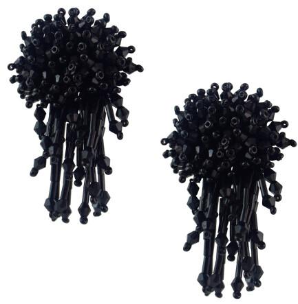 E-4605 Fashion Big Flower Shape Resin Beads Statement Earrings for Women Wedding Party Jewelry