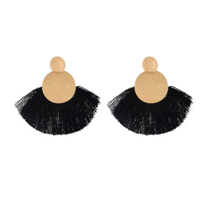 E-4625 Bohemian Gold Plated Thread Tassels Earrings Ear Studs for Fashion Woemn