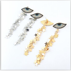 E-4623 New Fashion Fringe Tassel Crystal Long Drop Statement Earrings for Women Wedding Party Jewelry