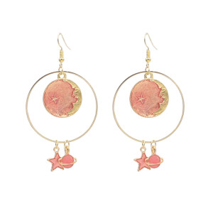 E-4627 New Fashion Gold Plated Alloy star pendant Earrings For Women Jewelry