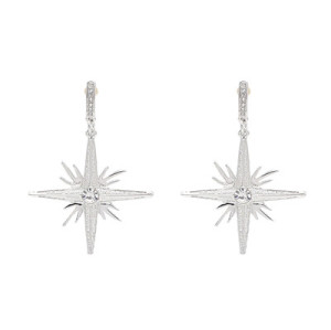 E-4628 2 Colors Trendy Rhinestone  Alloy Star Pendant Earrings For Women Jewelry