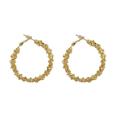 E-4632 Fashion Unique Hoop Earrings Circle Earring  OL Style Wedding Party Accessory
