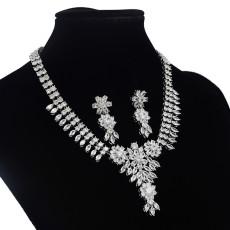 N-7048 Elegant 3A Zircon Bride Weeding Party Necklace Earring Jewelry Set