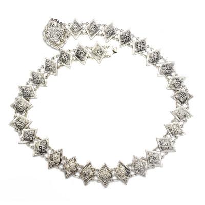 N-7056 Vintage Silver Flower Waist Chain Bells Metal Tassel Belly Chain Belt Chains Bohemian Body Jewelry