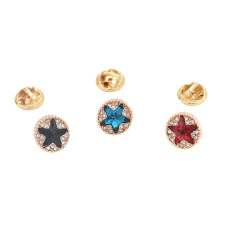 P-0403 3 Colors Crystal Rhinestone Star Brooches Pins for Women Dress Accessories