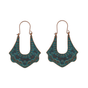E-4638 Vintage Bohemian Long Statement Earrings Ehnic Handmade Fringe Earring