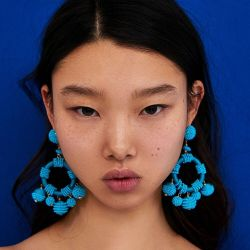 E-4640  Fashion Handcraft Artificial Beaded Circle Drop Dangle Earrings For Women Jewlry