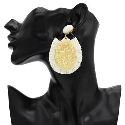 E-4663 6 Colors Trendy Women Tassel Small Stars Water Drop Earring Jewelry Design