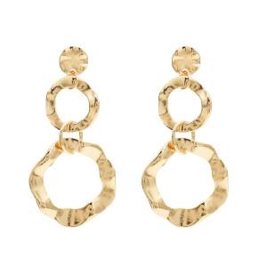 E-4672  Fashion Simple Alloy Big Long Drop Earrings for Women
