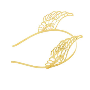 F-0491 Fashion Hairband Wing Shape Gold Plated Alloy Hair Jewelry Women & Girl Hair Accessories