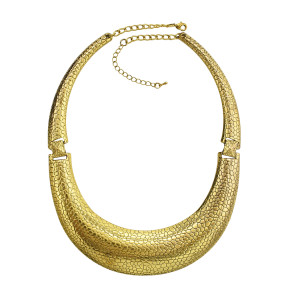 N-1829  Bohemian Vintage Gold Snake chain Moon Shaped Pendant Necklace Statement Necklaces for Women
