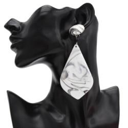 E-4691 Big Geometic Acrylic Long Drop Earrings for Women Boho Party Jewelry