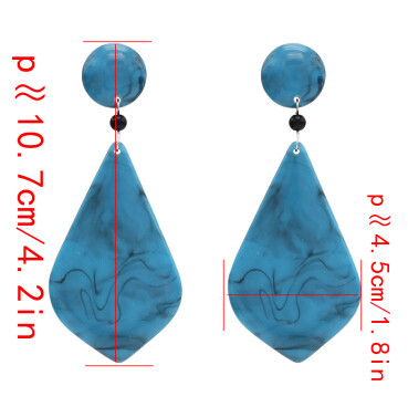 E-4691 Big Geometic Acrylic Long Drop Earrings for Women Boho Party Jewelry