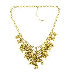 N-1888 Fashion Charming European Vintage Gold Metal Lovely Rabbit Head Tassel Choker Necklace