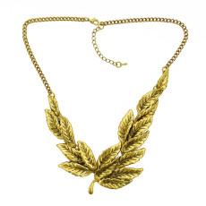 N-1822 New European Charming Fashion Vintage  Bronze Leaf  Pendant Necklace