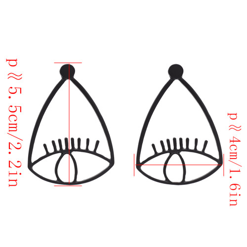 E-4686 3 Colors Cheap Alloy Evil Eye Fashion Ear Studs Earrings for Women