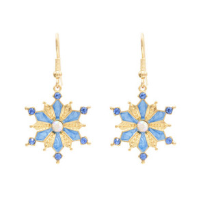 E-4680 Trendy Gold Rhinestone Flower Shape Summer Jewelry Design For Women