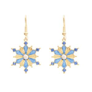E-4680 Trendy Gold Rhinestone Flower Shape Summer Jewelry Design For Women