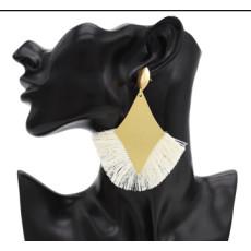 E-4703 Fashion Gold Metal Cotton Thread Tassel Drop Earrings for Women Boho Wedding Party Jewelry Gift