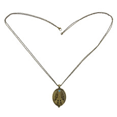 N-2361 New Fashion Vintage Style Engraving Hollow Out Box Pendant Necklace