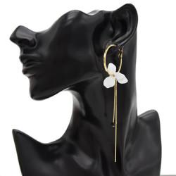 E-4702 Trendy Alloy Simple Elegant Round Tassel Flower Earring For Women Jewelry Design
