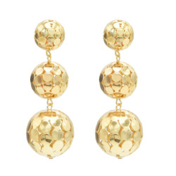 E-4699 2 colors Bohemian Vintage Silver Gold Hollow out Ball Tassel Dangle Earrings Drop Earrings Personality Women Ear Jewelry