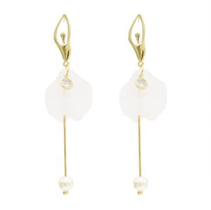 E-4708 Fashion Ballet Girl Long Pearl Zircon Drop Earrings Fringe Earrings