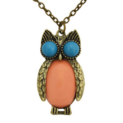 N-2512 New fashion vintage style Bronze Owl pendant necklace