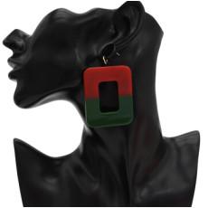 E-4715 4 Colors Square Shape Enamel Fashion Ear Studs for Fashion Women