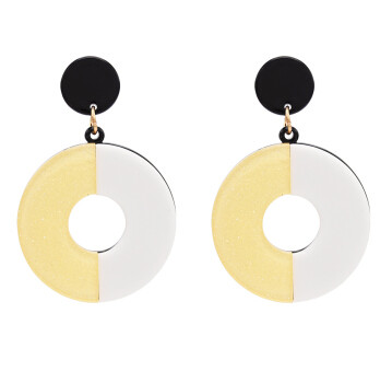 E-4718 Fashion Round Acrylic Drop Earrings for Women Boho Wedding Party Jewelry Gift