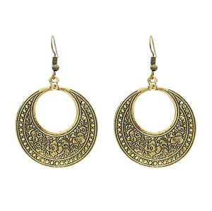 E-3917 Fashion Bohemia Vintage Alloy Silver Bronze Geometry Drop Dangle Earrings for Women