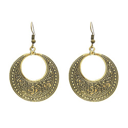E-3917 Fashion Bohemia Vintage Alloy Silver Bronze Geometry Drop Dangle Earrings for Women