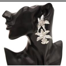 E-4720 Fashion Silver Gold Metal Big Flower Drop Earrings for Women Boho Wedding Party Jewelry