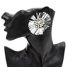 E-4726 2 Colors Floral Shape Crystal Fashion Ear Studs Earrings for Women