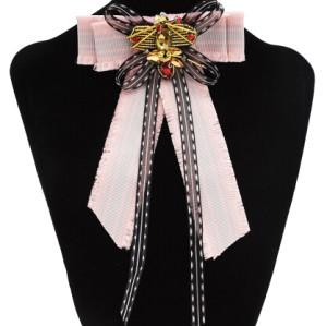 N-7093  Cute Women Crystal Rhinestone Butterfly Tie Wedding Party Clothing Accessories
