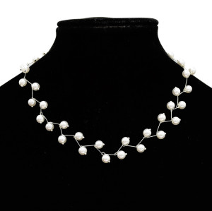 N-7078 Hot Imitated Pearl Fashion Choker Necklace Pendant for Women Party Jewelry