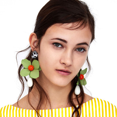 E-4735 Fashion Earrings Drop Big Flower Earring for Wedding