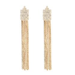 E-0082 Fashion Simple Rhinestone Drop Earrings Tassel Earring OL Style