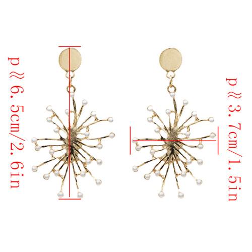 E-4730 Fashion Flower Shape Pearl Earrings Ear Studs Earring Women Party Jewelry