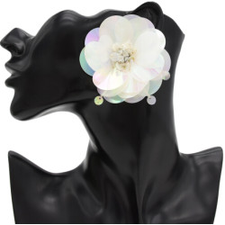 E-4741 Korean Style Fashion Jewelry Crystal Flower Stud Earrings For Women