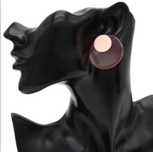 E-4739 Korean Style Fashion Jewelry Double Round Piece Cute Stud Earrings For Women Charm jewelry