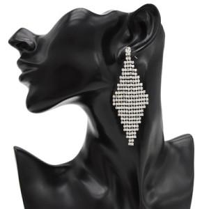 E-4737 Trendy Rhinestone Diamond Elegant Drop Earring For Women Jewelry Design