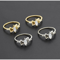 R-1499 2 Colors Bohemian Vintage Gold Silver Plated Crystal Rhinestone Finger Midi Knuckle Ring For Women Rings Jewelry