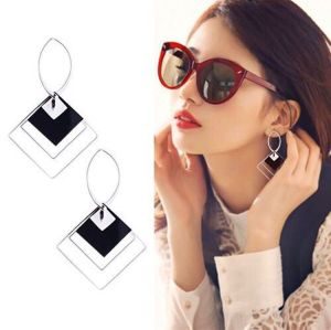 E-4738 Fashion Big Drop Earring Hollow Geometric Stud Earrings