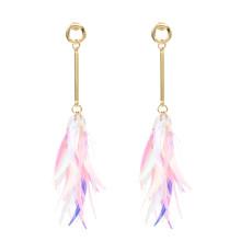E-4745 Korean Style Fashion Jewelry Shiny Plastic Tassels Dangle Earrings Ear Stud Earrings For Women