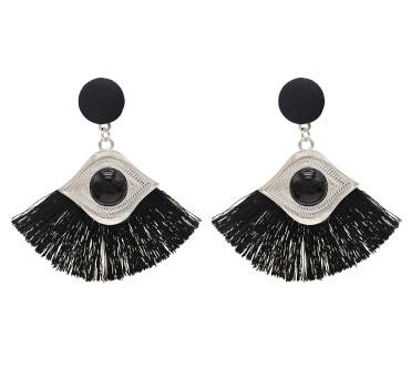 E-4755 5 Colors Cotton Thread Tassel Drop Earrings for Women Boho Wedding Party Jewelry Gift